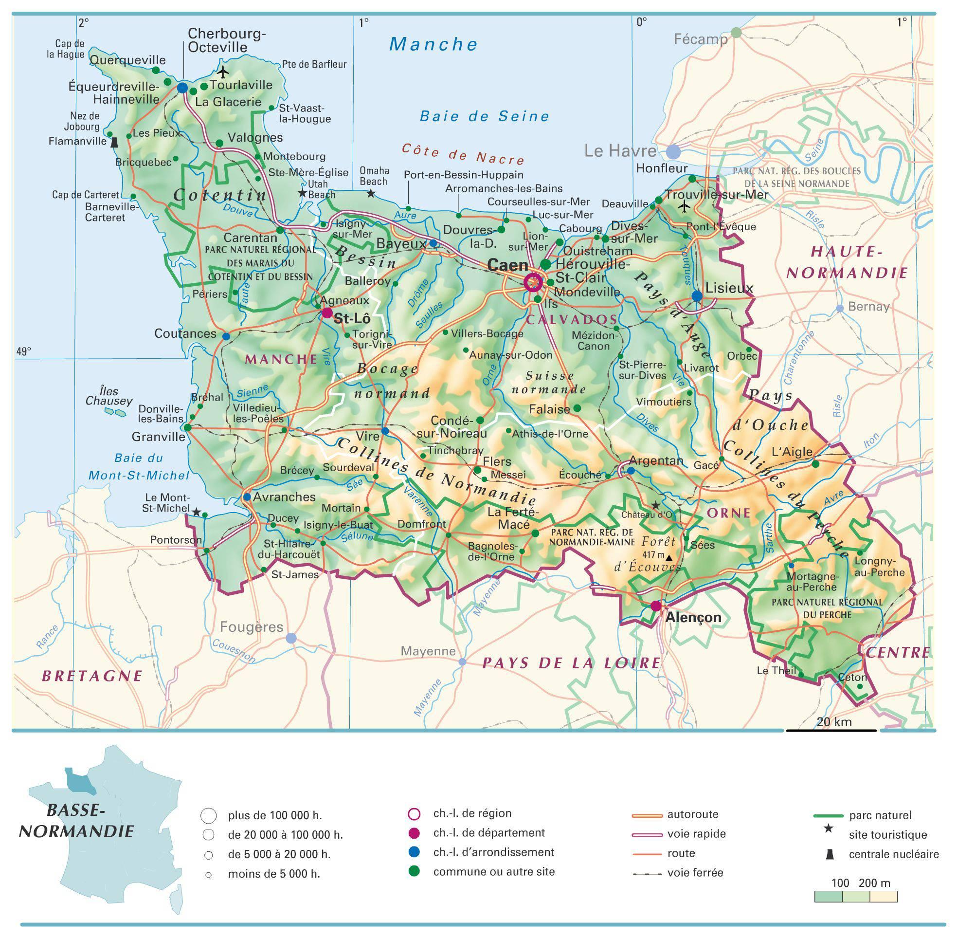 Basse-Normandie carte