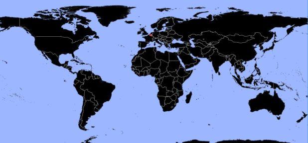 Belgique sur une carte du monde