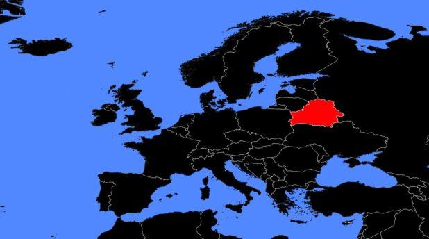 Biélorussie sur une carte de l'Europe