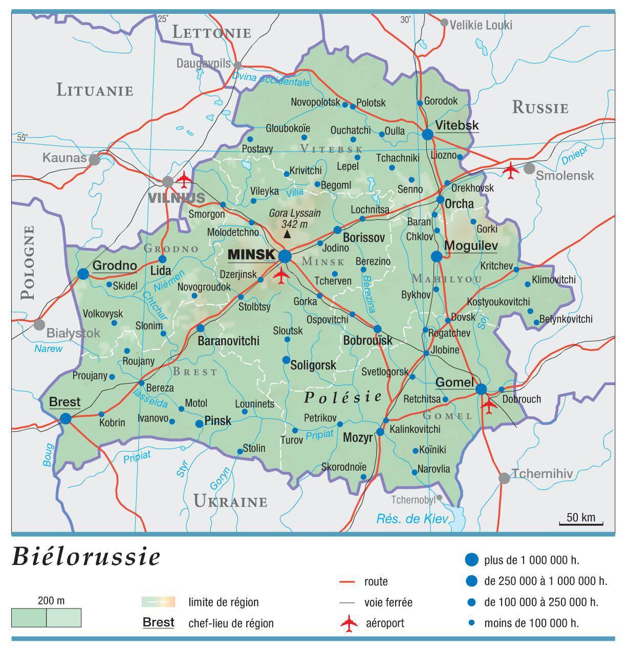 Biélorussie carte