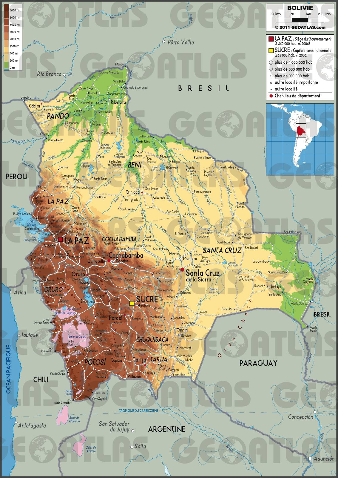 Bolivie carte