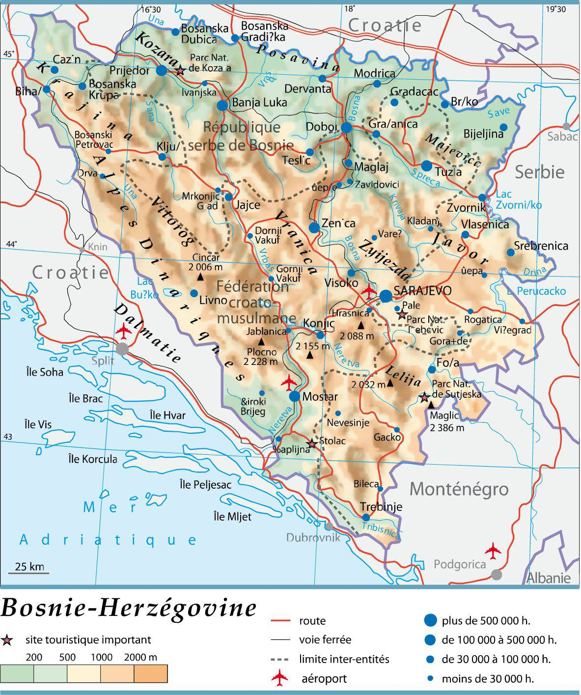 Bosnie-Herzégovine carte