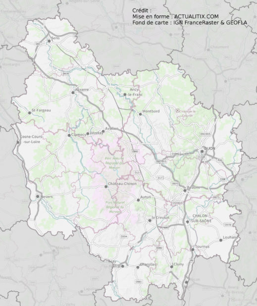 Bourgogne carte