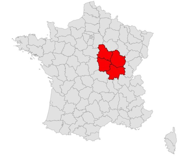 Bourgogne carte de France
