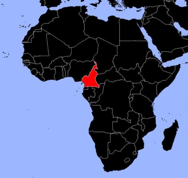 Cameroun sur une carte d'Afrique