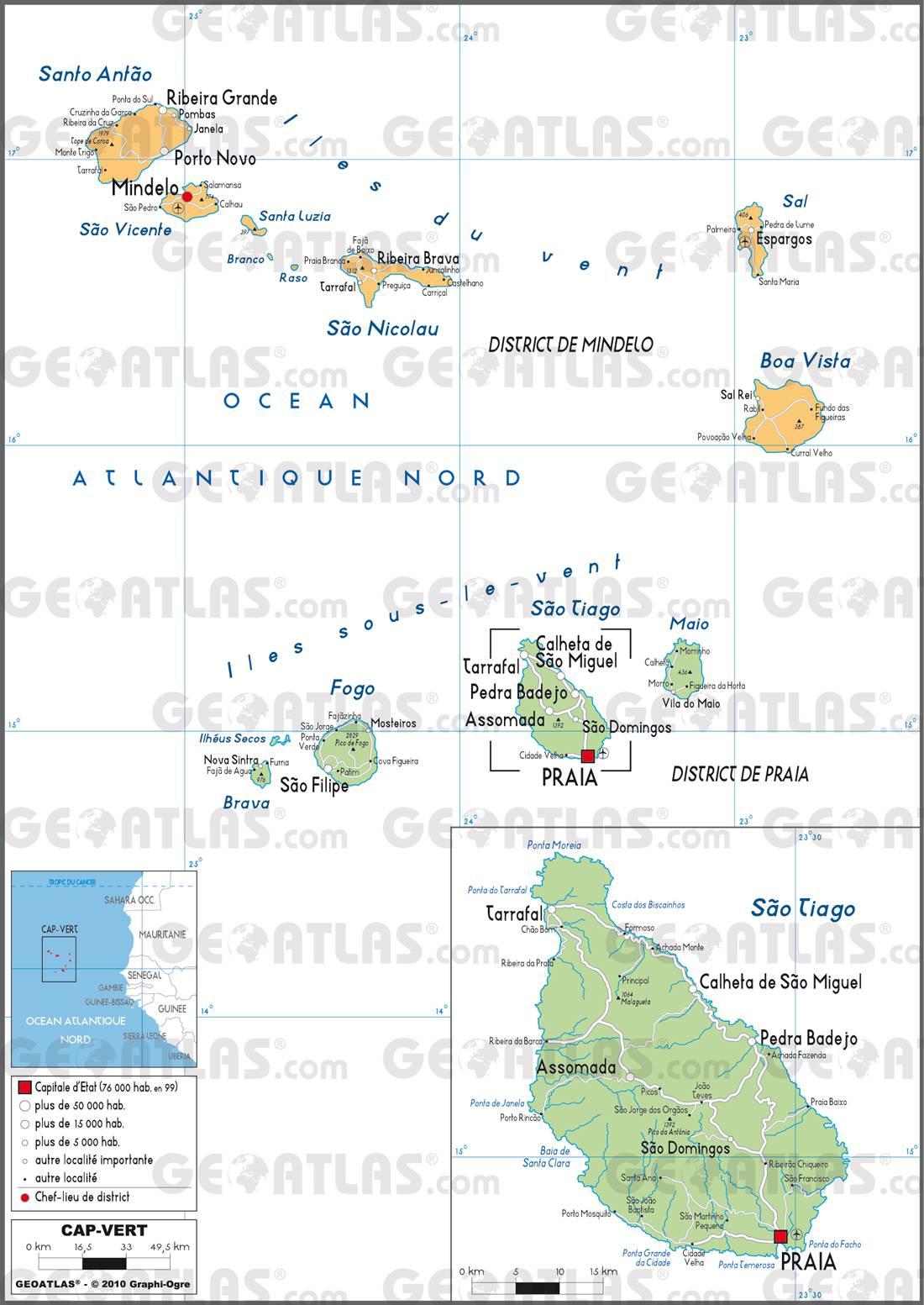 Cap-Vert carte