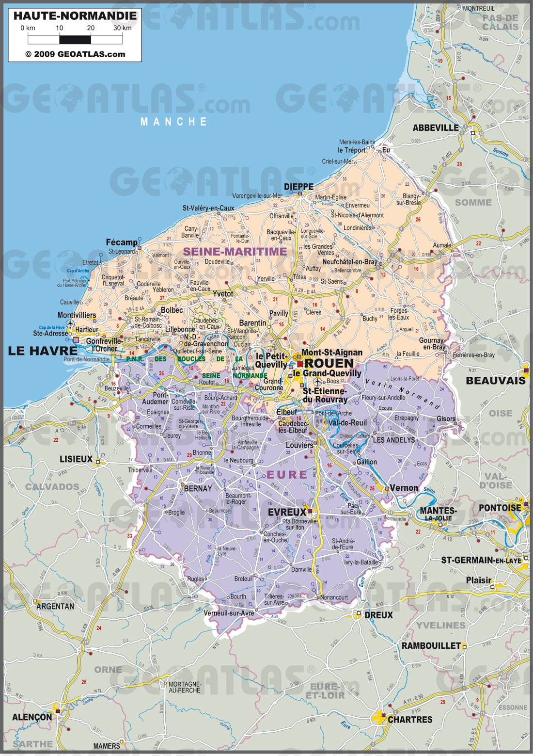 Haute normandie carte tiberiandawn for Haute normandie tourisme