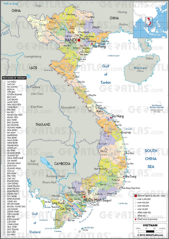 Carte administrative du Vietnam