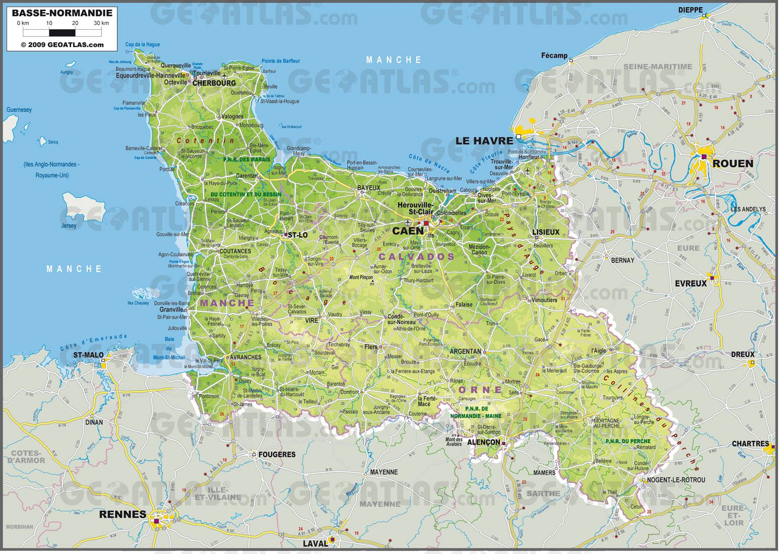 carte basse normandie - Photo