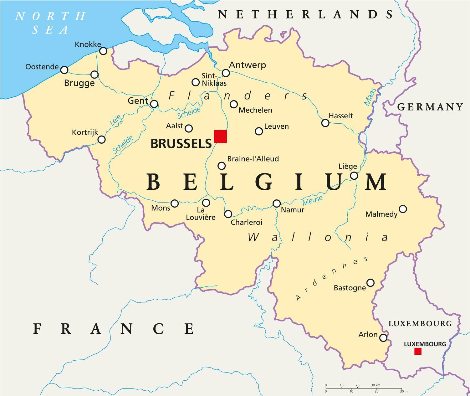 carte-de-belgique - Photos