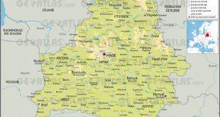 Carte de la Biélorussie