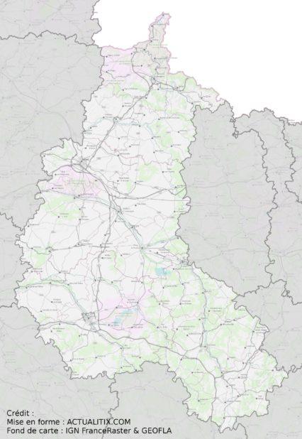Carte de la Champagne-Ardenne