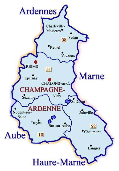 champagne ardenne carte
