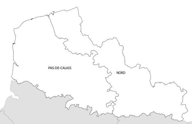 Carte des départements du Nord-Pas-de-Calais
