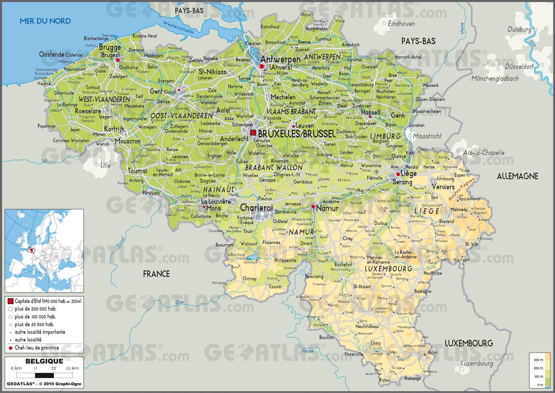 Carte Belgique Villes.Carte De La Belgique Decouvrir Plusieurs Cartes Du Pays
