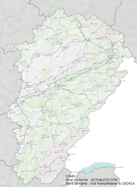 Carte de la Franche-Comté (région)