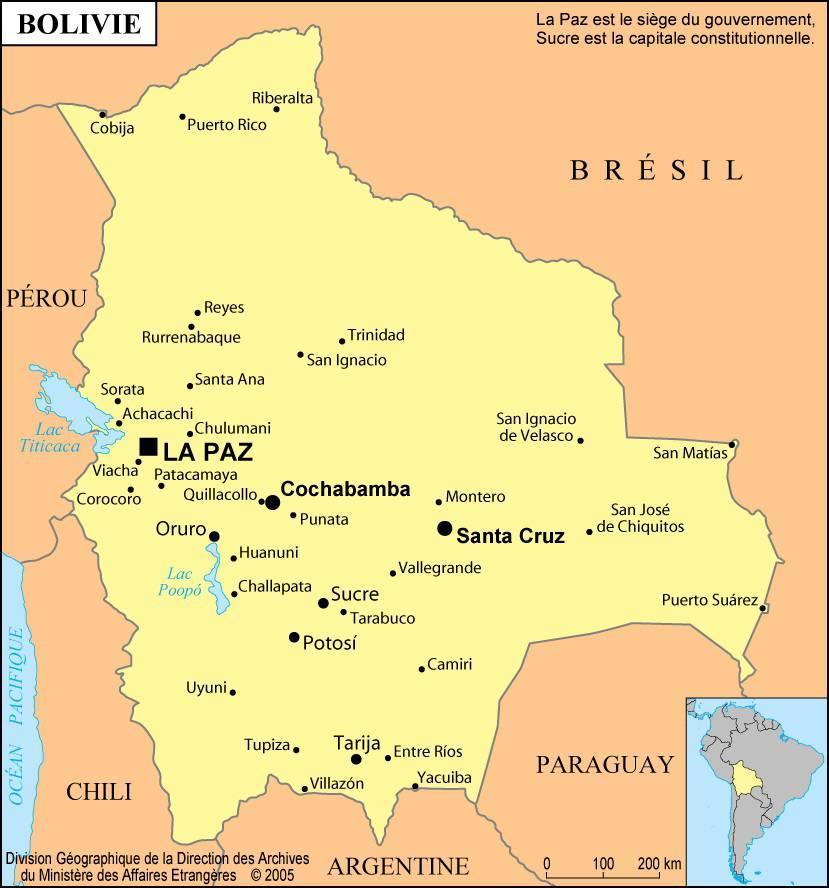 Bolivie carte