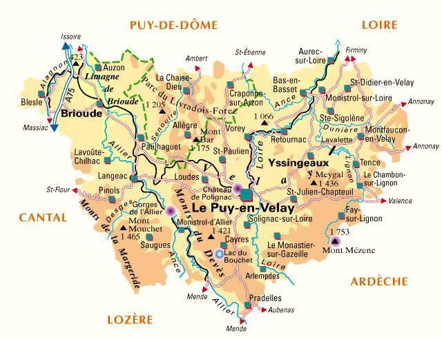 Carte de la Haute-Loire - Politique