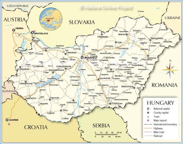Carte de la Hongrie