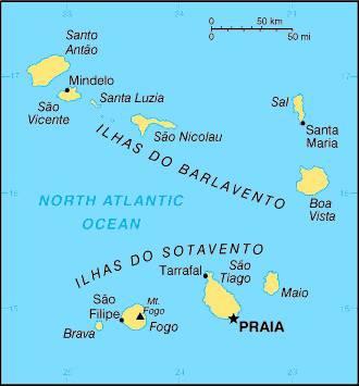 Carte des îles du Cap-Vert