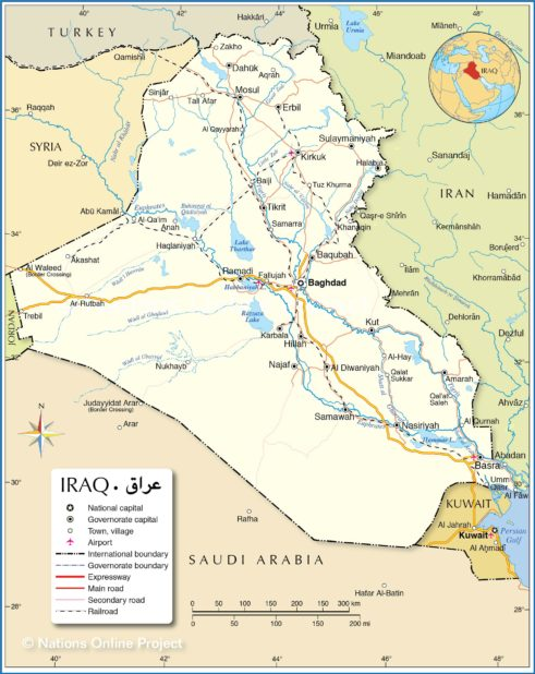 Carte d'Irak