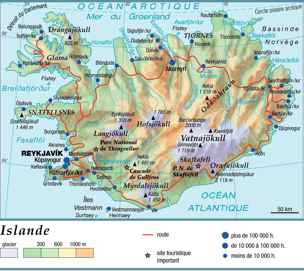 Carte Islande Avec Capitale