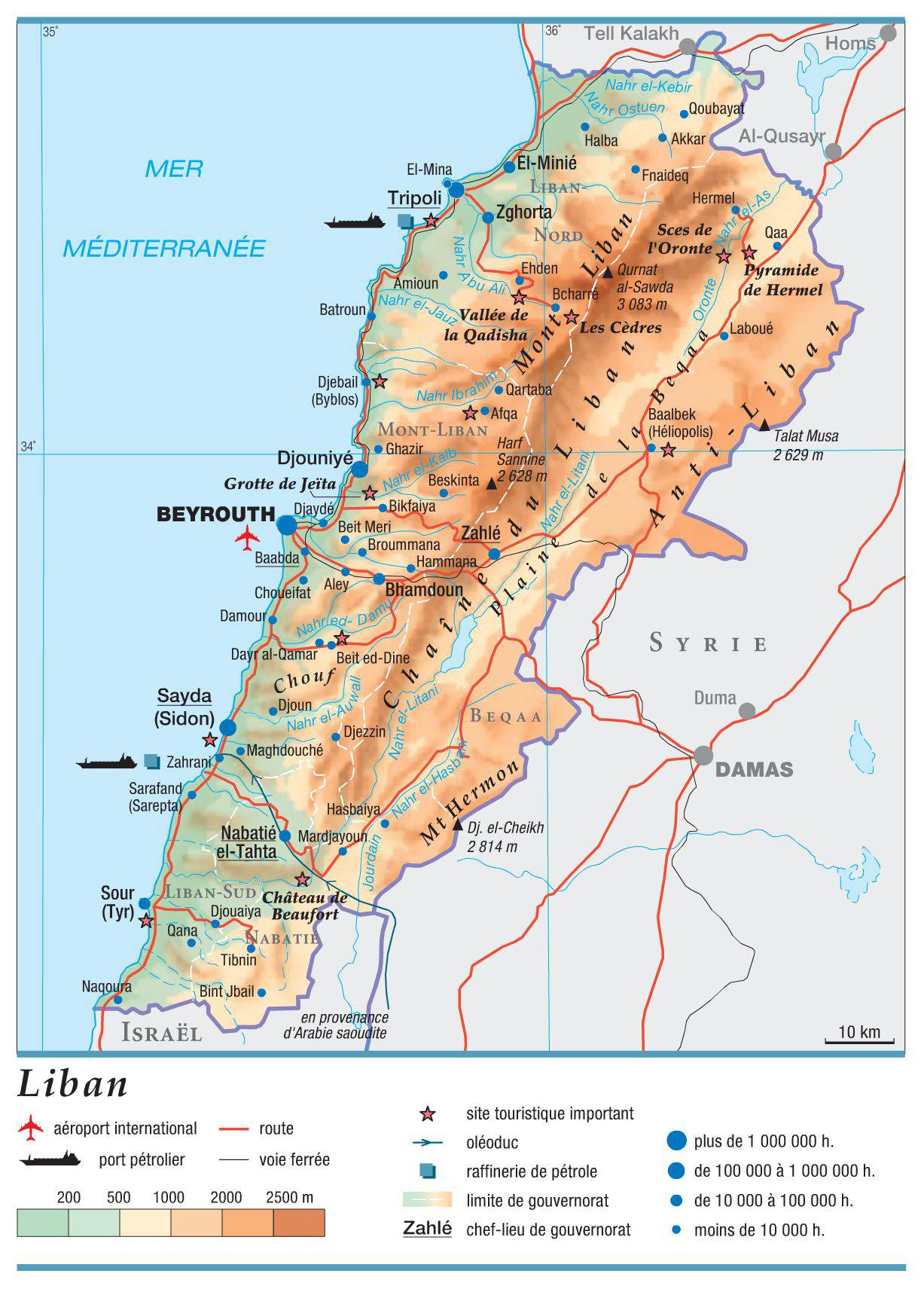 Carte du Liban