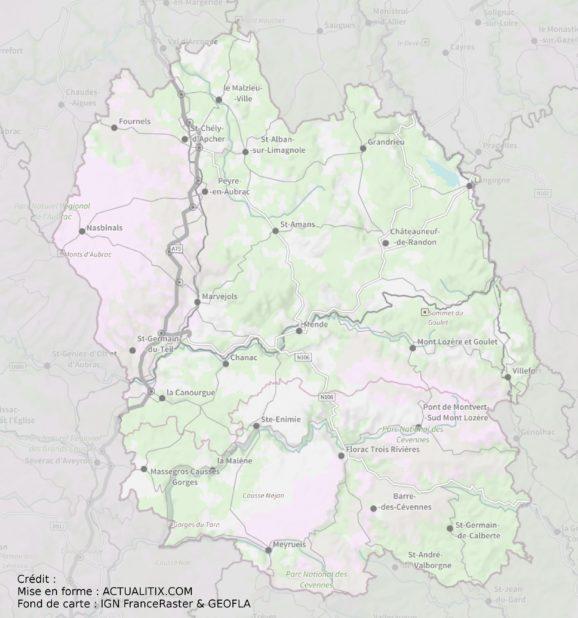 Lozère carte