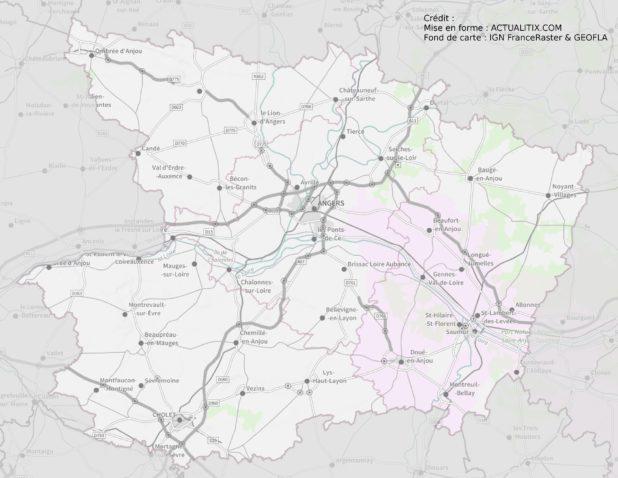 Carte du Maine-et-Loire