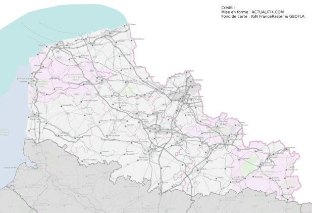 Carte du Nord-Pas-de-Calais