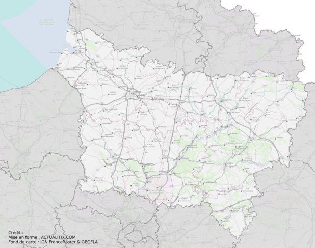 Carte de la Picardie (région)