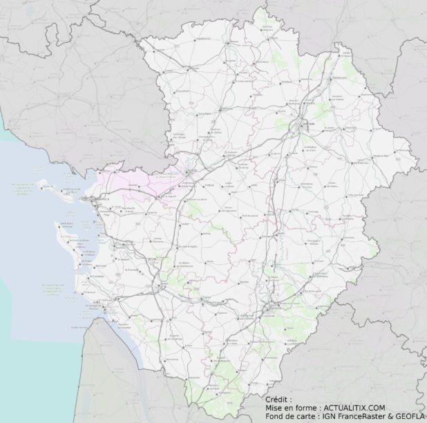 Carte du Poitou-Charente