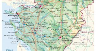 Carte du Poitou-Charentes
