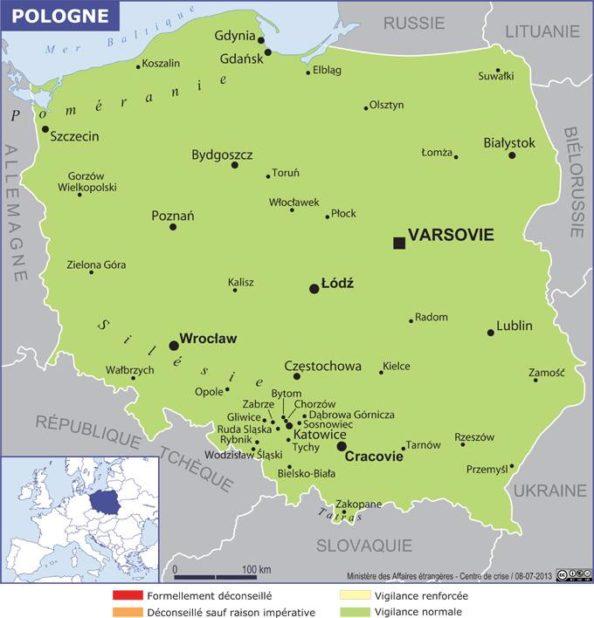 Carte de la Pologne