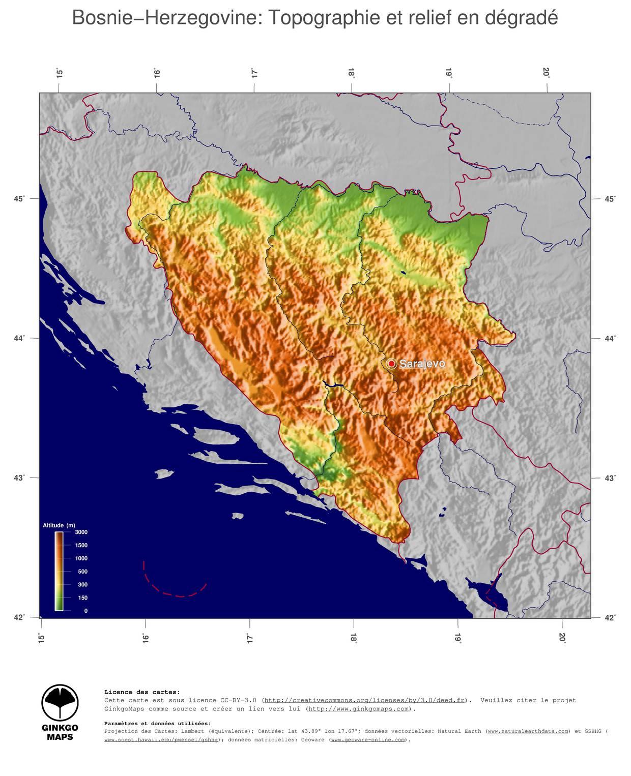 Carte de la bosnie herz govine plusieurs cartes du pays des balkans - La carte de l empire ottoman ...