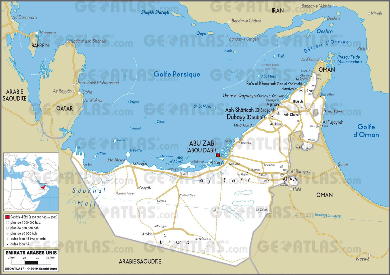 carte des emirats arabes unis plusieurs cartes du pays