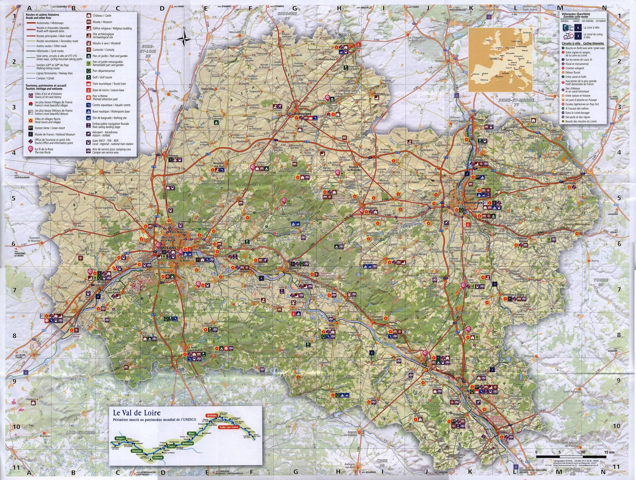 Carte Du Loiret - Loiret Carte Du D U00e9partement 45