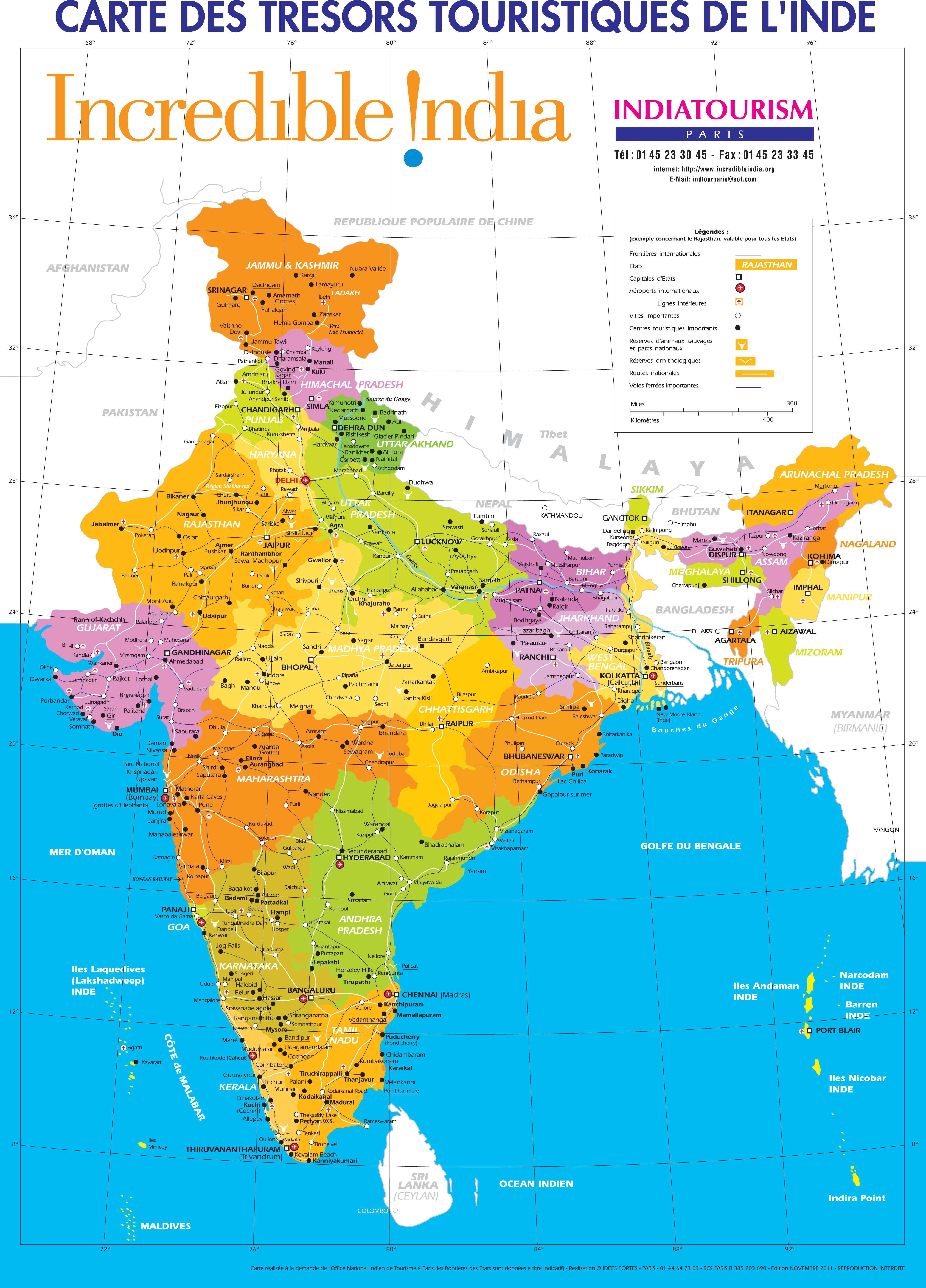 Carte Geographique De Linde Du Nord.Carte De L Inde Plusieurs Cartes De L Immense Pays D Asie