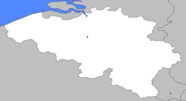 Carte vierge de la Belgique