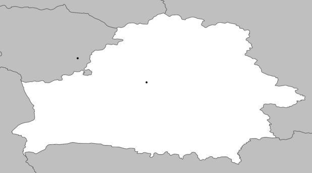 Carte vierge de la Biélorussie