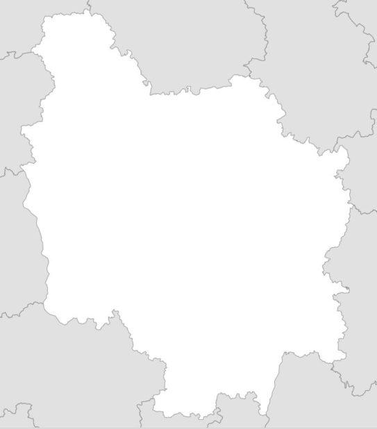 Carte vierge de la Bourgogne