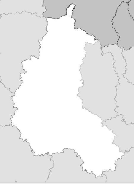 Carte vierge de la Champagne-Ardenne