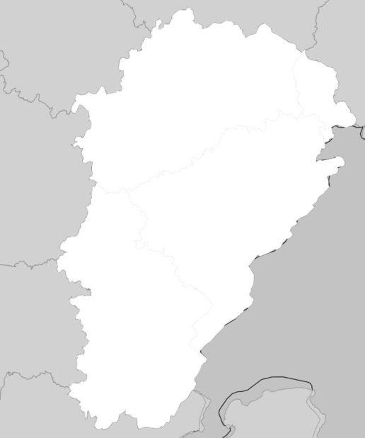 Carte vierge de la Franche-Comté