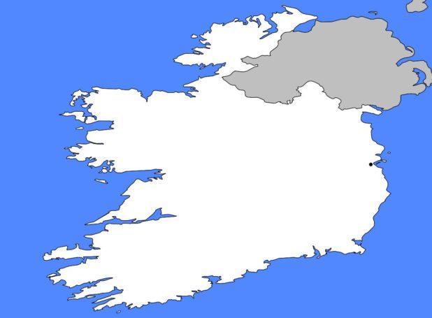 Carte vierge de l'Irlande