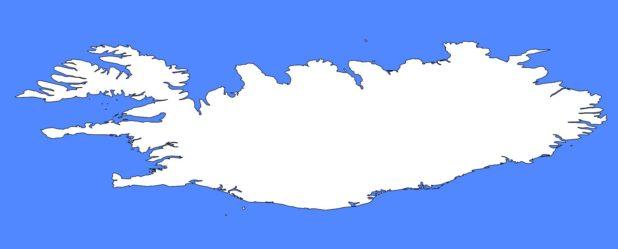 Carte vierge de lslande