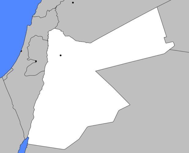 Carte vierge de la Jordanie
