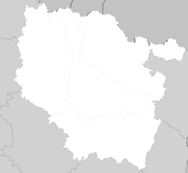 Carte vierge de la Lorraine (région)
