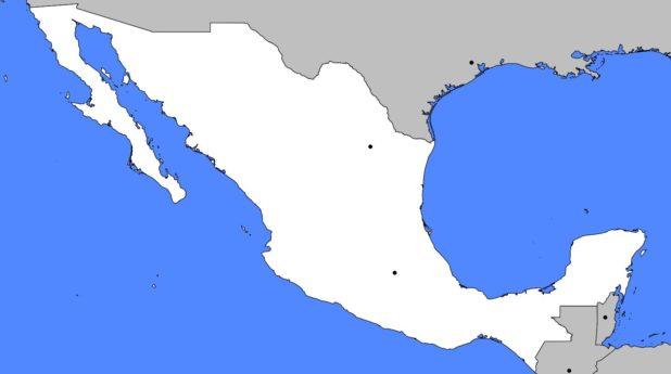 Carte vierge du Mexique