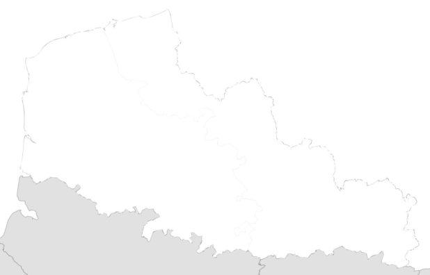 Carte vierge du Nord-Pas-de-Calais