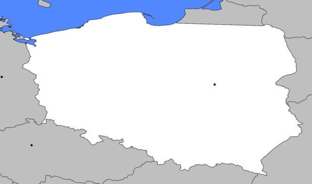 Carte vierge de la Pologne
